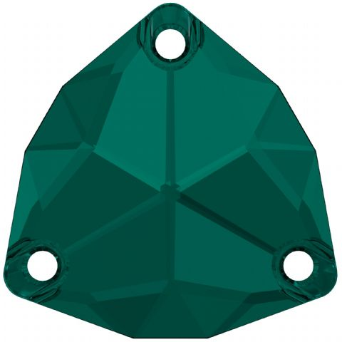 3272 Trilliant Sew On Crystals, Emerald